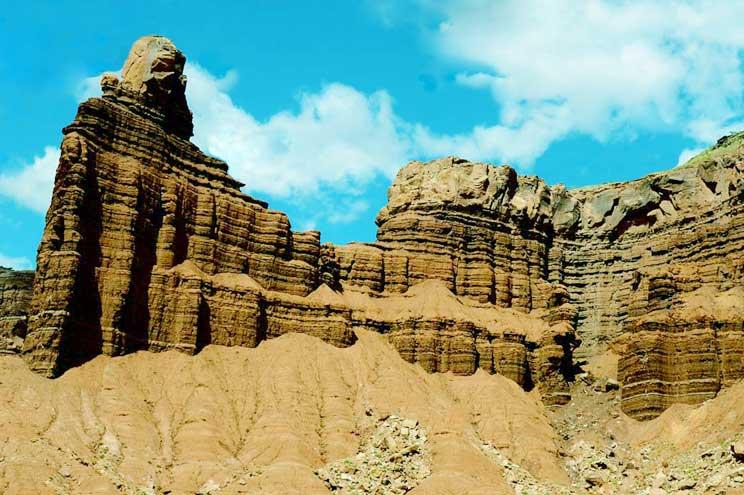 Rocce sedimentarie dei monti delle Dolomiti
