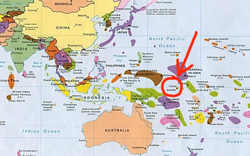 Nauru isola della Micronesia