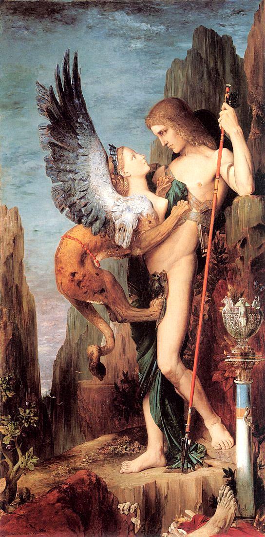 Edipo e la Sfinge di Gustave Moreau
