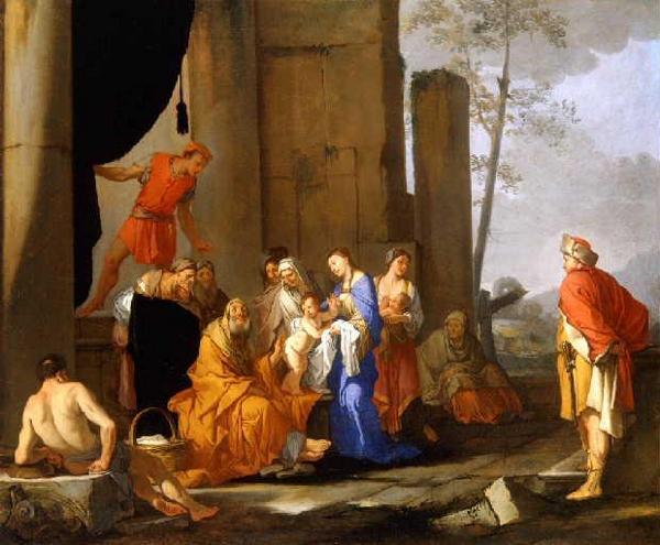 Narciso - Dipinto Liriope presenta narciso a Tiresia